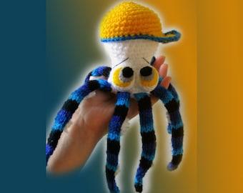 Amigurumi Pattern - The Little Octopus in a Cap.