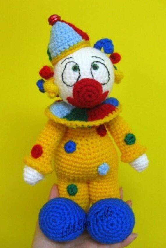 Amigurumi Pattern Purimka a funny clown