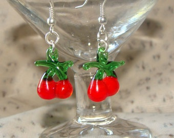 Cherry Glass Earrings