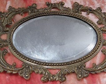 Antique Brass Stamping Frame and Mirror