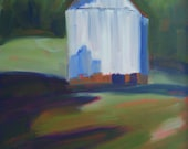SALE Crabapple Barn  16 x 20 original painting