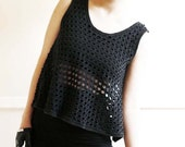 net cropped tshirt