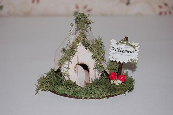 Rustic Birch Cottage with Welcome Sign