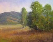 Evergreen Grove - Original Pastel Painting - Paula Ann Ford