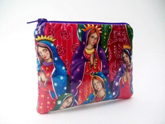 Virgin de Guadalupe vinyl coin purse