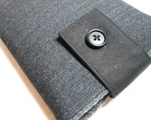 kindle Fire cover, Kindle case, Nook or other E-reader sleeve cover - Dark Gray with Flap