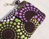 Cellphone cover,iPhone 4,4s,5,5s,5c,Galaxy S4,S5,Nokia Lumia,LG G2,htc one,ipod classic,Droid sleeve cover -Groovey Sage Purple Dot