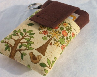 cellphone  sleeve,Galaxy S4,S5,iphone 6/5/5c/5s/4s,Nokia Lumia,HTC,LG,iPod classic,droid sleeve cover,cellphone pouch case  -Tree and Birdie