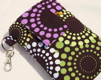 Cell phone sleeve cover,iPhone 7,6,6s/plus,samsung Galaxy S6/s7/edge/note 5,oneplus 3,lg g5,htc 10 fabric sleeve cover case -  Groovey  Dot