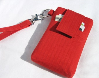Smart phone purse,Cell phone WRISTLET bag, iphone,samsung galaxy,LG,Nexus,HTC,Moto x sleeve pouch case purse - Hot Red
