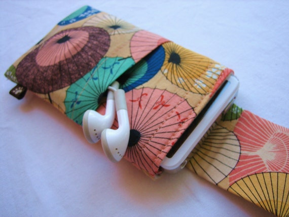 Eco Case for iPhone, iPod, iTouch with Cover and Pockets - Umbrella