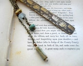Embossed Brass Bookmark with Elephant Pattern