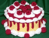 Raspberry Caramel Treasure Cake PDF Crochet Pattern