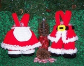 Mr and Mrs Santa Treasure Trousers PDF Crochet Pattern