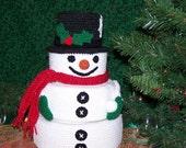 Snowman Treasure Tower PDF Crochet pattern