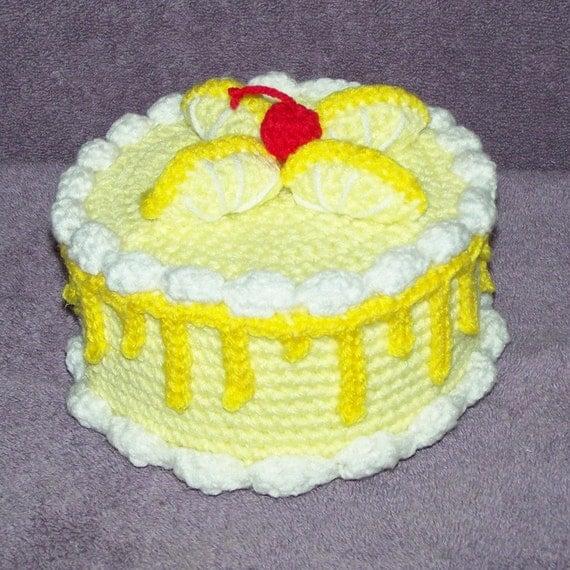 Items Similar To Lemon Twist Treasure Cake PDF Crochet