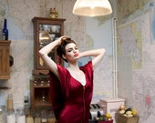 Sample Sale: Luisa Red Silk Midlength Dress