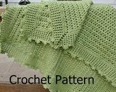 Crochet baby blanket pattern, crochet afghan pattern, lacy baby blanket, crochet blanket pattern, lightweight baby blanket, baby afghan