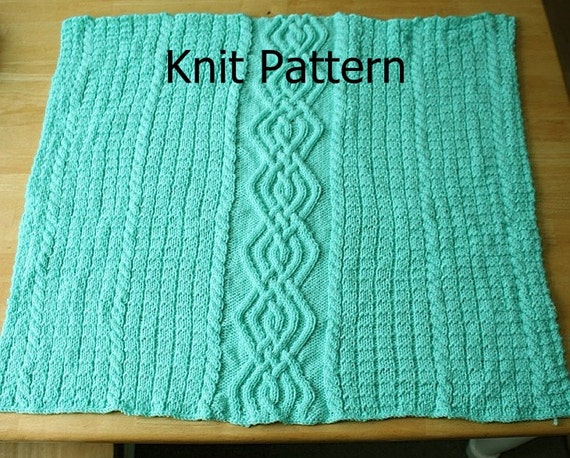 Knit crib blanket pattern cable knit baby blanket pattern