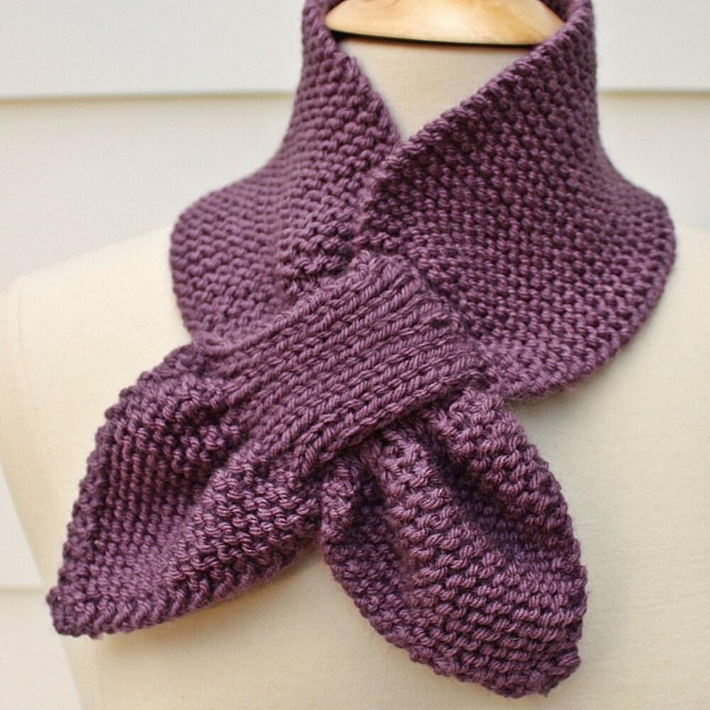 Knit keyhole scarf warm winter scarf ultra violet scarf zoom bankloansurffo Images