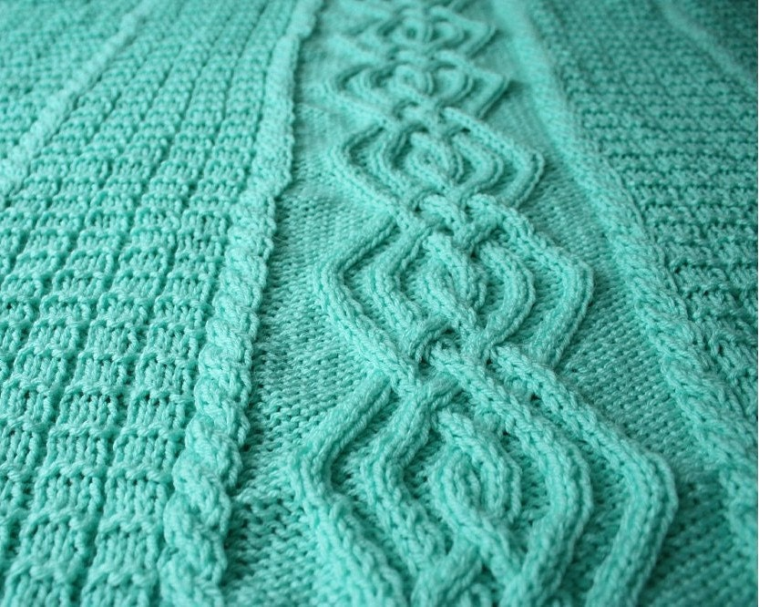 Knit Pattern Baby Blanket Cable : knit baby blanket pattern cable baby blanket by spinningsheep