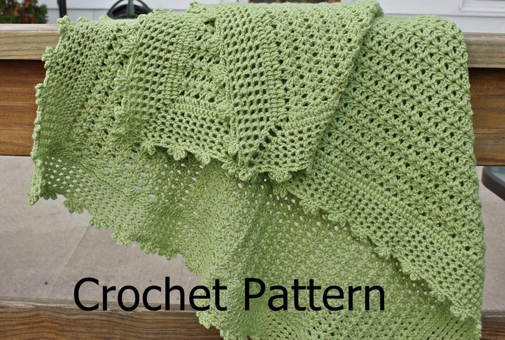 Crochet Baby Blanket Pattern Etsy : Crochet baby blanket pattern crochet afghan pattern lacy