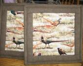 Pheasant Pot Holders - Set of 2