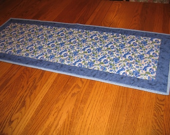 Quilted Table Runner in Blueberries