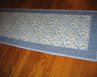 Quilted Table Runner in Bluebells