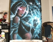 ORIGINAL 1-OFF Custom Airbrushed Tee with Storm Marvel Comics