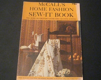 McCalls Home Fashion Sew-It Book Home Decorating Guide for Creative Sewing 1965