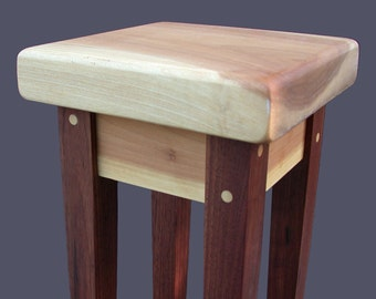 QUICK SHIP!! Orchid Table - Plant Stand Sculpture Display by Studio 1212 ---- Walnut Top