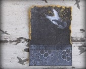 original ATC collage, winged her peaceful way