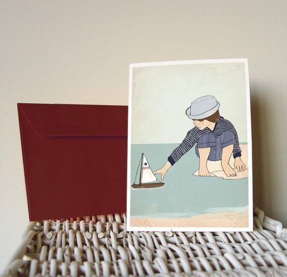 Small Sailor Postcard
