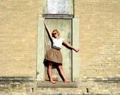 Brown High Waist Skirt