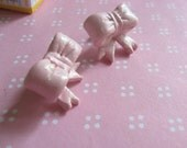 Lovely Baby Pink Bow Earrings