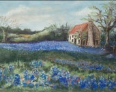 Gift Set (3) Hill Country Blues-5x7 bluebonnet note cards, blank, w/envelopes