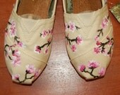 Custom TOMS - another Cherry Blossom Design, shoes included, you select your size, color