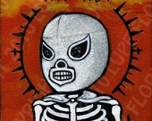 EL SANTO Lucha Libre day of the dead sugar skull Art Print 5x7 art print