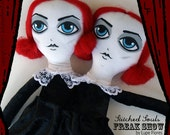 RESERVED FOR Nancy745cat Margara & Debora Siamese Joint Twins  rag doll 13 inches Limited Edition