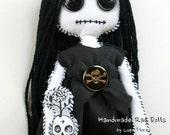 Lailah and her secret garden Stitched Souls Handmade Rag Doll