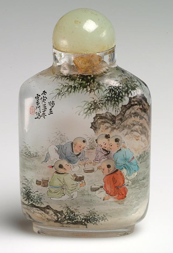Antique Chinese SNUFF BOTTLE inside painted