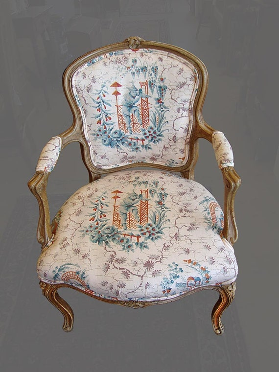 RESERVED 4/16   PAIR Of Antique Louis XVI style Country French Arm Chairs