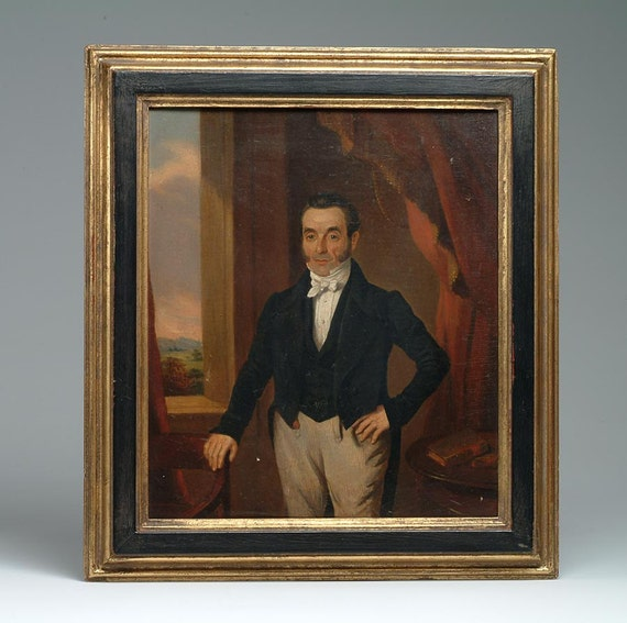 Fine 1850's Oil Portrait of a New England Gentleman