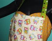 Busy Poka Dot  Owl Apron( Full size)