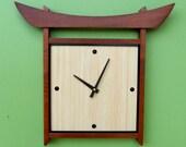 Japanese-style Bamboo Wall Clock