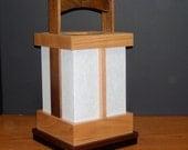 Japanese-style Shoji Lamp - Walnut/Cherry, Shoji Lamp, Japanese Lamp