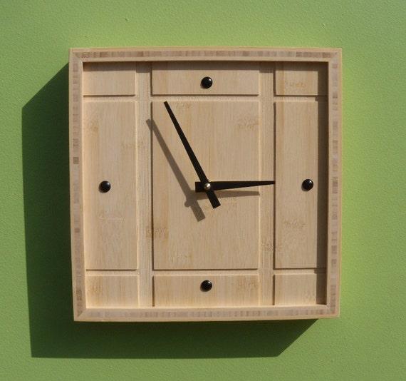 Bamboo Wall Clock - Eco-Friendly