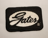 Vintage GATES sew on patch new unused automobile hot rod