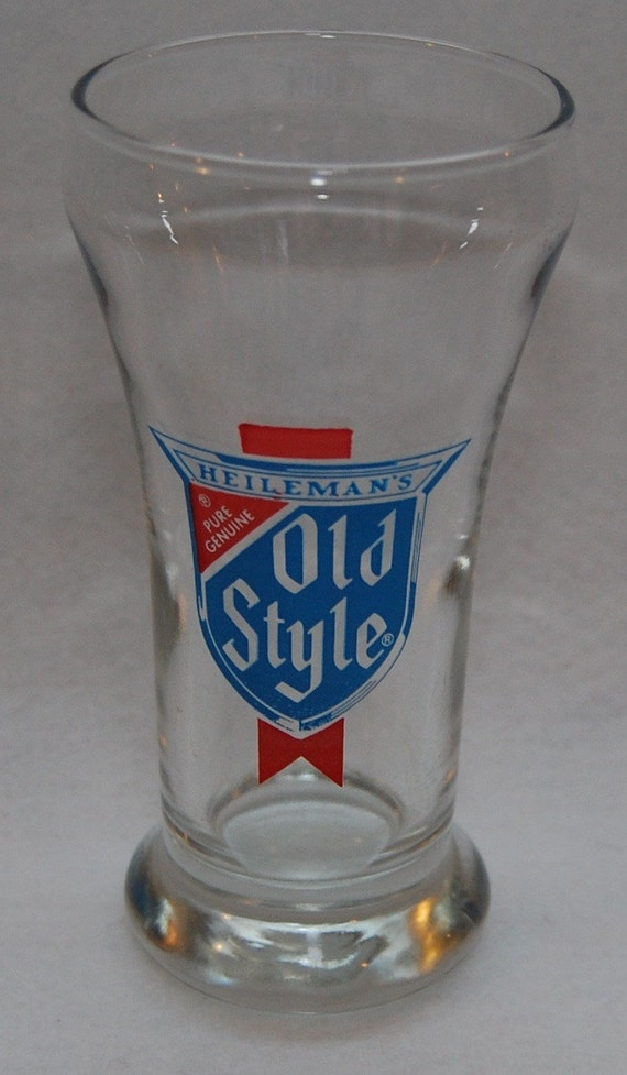 Vintage Heilemans Old Style Shorty Beer Glass